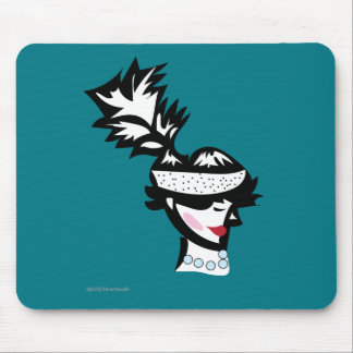 Retro Roaring 1920s Flapper Girl Silhouette Mouse Pad