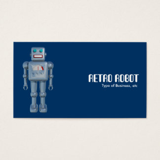 Retro Robot - Blue (Alternating Sides) Business Card