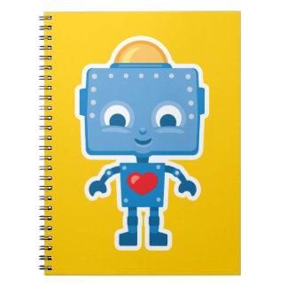 Retro Robot Cute Art on Notebook