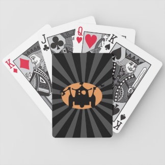 Retro Robot - Green Spotlight Bicycle Playing Cards