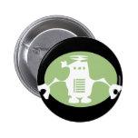 Retro Robot - Green Spotlight Button