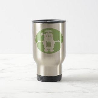 Retro Robot - Green Spotlight 15 Oz Stainless Steel Travel Mug