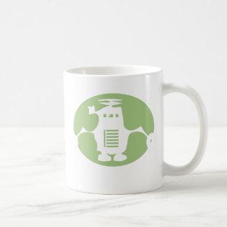 Retro Robot - Green Spotlight Classic White Coffee Mug