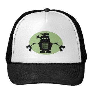 Retro Robot - Green Spotlight Trucker Hat