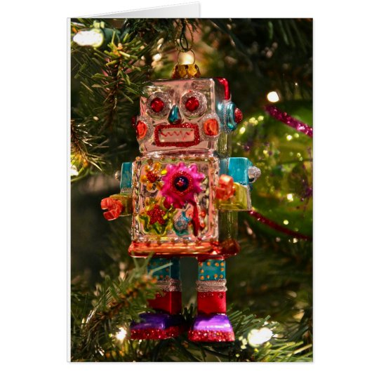 Retro Robot Greeting Card