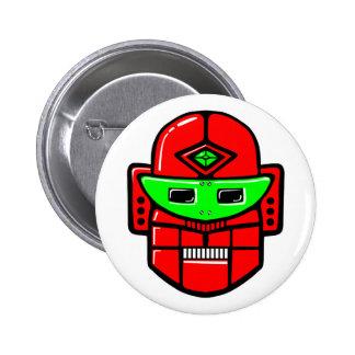 Retro Robot Head Button