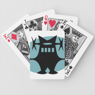 Retro Robot in Blue Bicycle Playing Cards