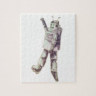 retro robot jigsaw puzzle