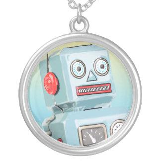 Retro Robot Necklace