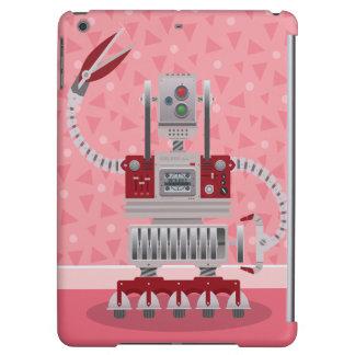 Retro Robot Pink iPad Air Covers