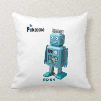 Retro Robot Pinkopolis Pillow P1-NK AQ-A4