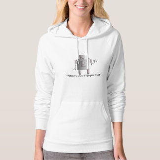 Retro Robot, Robots are People Too, Funny Hoodie