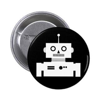 Retro Robot Shape Button