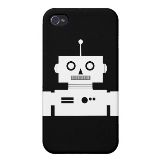 Retro Robot Shape Speck Case Covers For iPhone 4