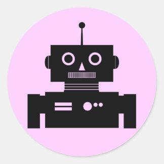 Retro Robot Shape Sticker