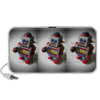 Retro Robot Laptop Speaker