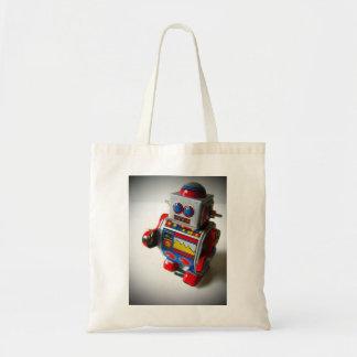 Retro Robot tote bag Budget Tote Bag