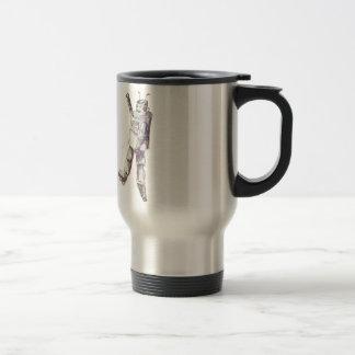 retro robot travel mug