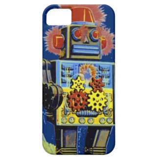 Retro Robot Vintage Space SciFi Toy Phone Case iPhone 5 Cover