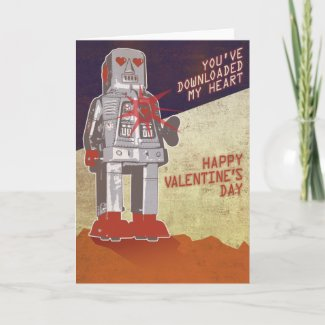 Retro Robot - You've Downloaded My Heart ... Card