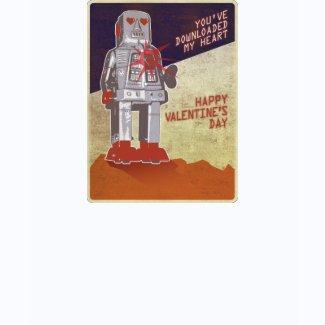 Retro Robot - You've Downloaded My Heart ... shirt