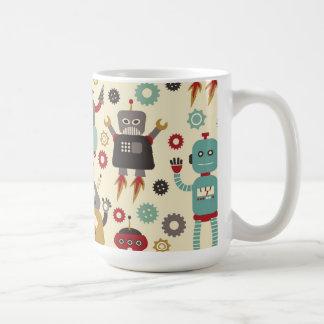 Retro Robots (Cream) Mug