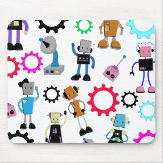 Retro Robots Mousepads