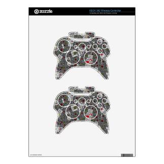 Retro Robots Xbox 360 Controller Skin