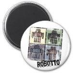 retro robotto magnet