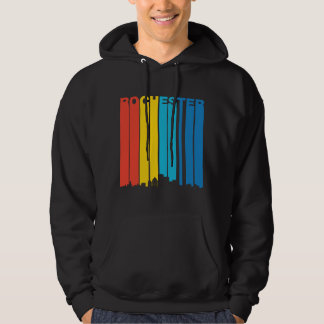 Retro Rochester New York Skyline Hoodie