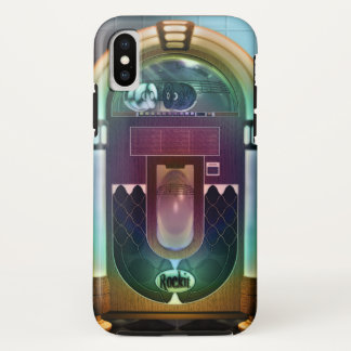 Retro Rock and Roll Jukebox iPhone X Case