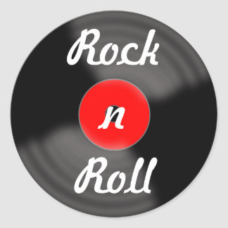 Retro Rock and Roll Vinyl Record Stickers