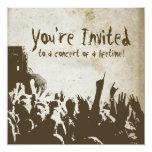 Retro Rock Concert Invitation