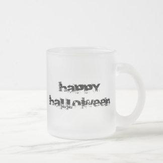 Retro Rock Happy Halloween 10 Oz Frosted Glass Coffee Mug