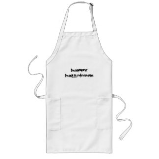 Retro Rock Happy Halloween Long Apron