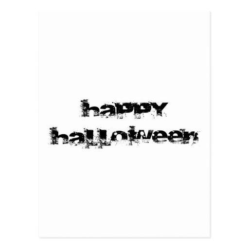 Retro Rock Happy Halloween Postcard