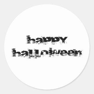 Retro Rock Happy Halloween Stickers