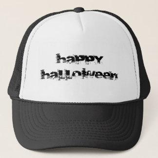 Retro Rock Happy Halloween Trucker Hat