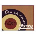 Retro Rock n' roll birthday party 4.25x5.5 Paper Invitation Card