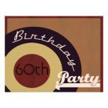 Retro Rock n' roll birthday party Personalized Announcements