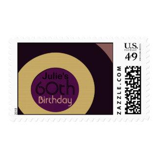 Retro rock n' roll birthday postage