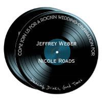 Retro Rock n Roll Vinyl Record Wedding Invitation