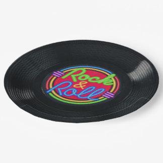 Retro Rock & Roll Vinyl Paper Plates