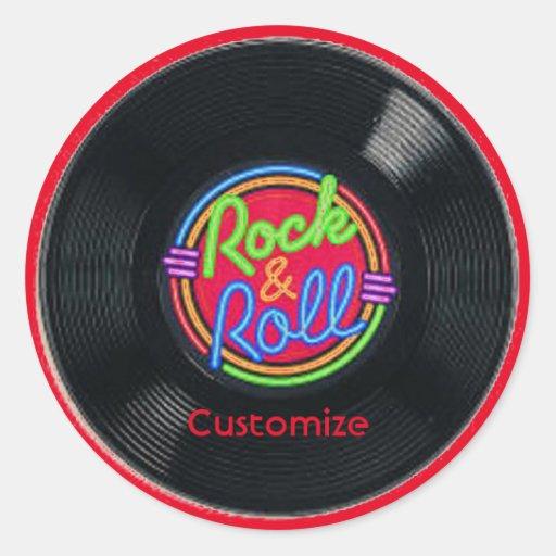 Retro Rock Amp Roll Vinyl Stickers Zazzle