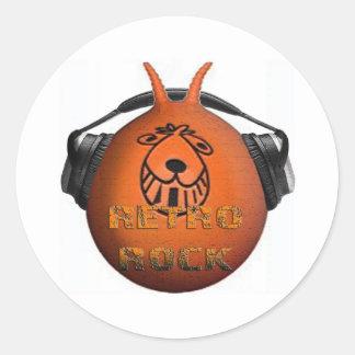 Retro Rock Space Hopper Stickers