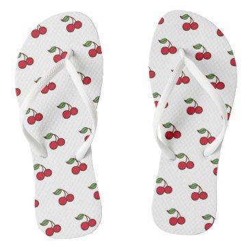 Beach Themed Retro Rockabilly Cherry Flip Flops Sandals Gift