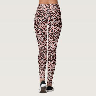 Retro Rockabilly Pink Leopard Leggings