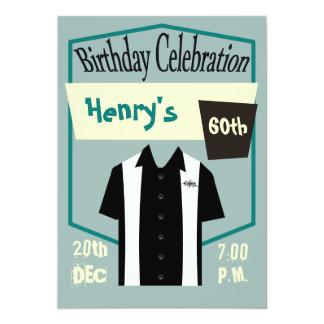 Retro Rockabilly Shirt Birthday Celebration Invites