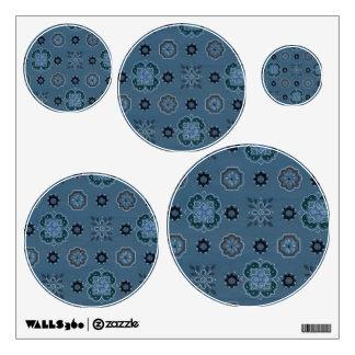 Retro Rockabilly Vintage Bandanna Blue Wall Sticker