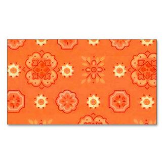 Retro Rockabilly Vintage Bandanna Orange Magnetic Business Card